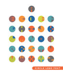 Logos astratto della lettera circolare Immagine Stock