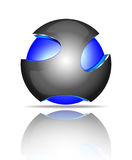 Logos astratto della sfera 3d Fotografie Stock
