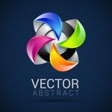Logos astratto della sfera 3d che scolpisce insieme Sfere di logo Fotografie Stock Libere da Diritti