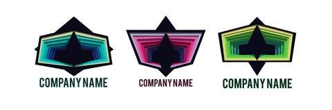 Logos astratto di web Fotografia Stock