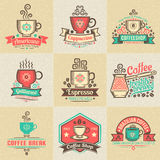 Logos avec du café Photos stock