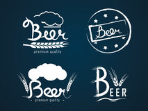 Logos beer Stock Images