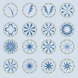 Logos blu Immagini Stock