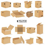Boxes in vector Royalty Free Stock Images