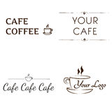Logos for Cafe Royalty Free Stock Image
