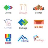 Logos of ceilings, floors stock image