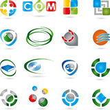 Logos, collection, services, IT. Logos collection, services Logos, IT mines Stock Photo