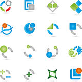 Logos, collection, services, IT. Logos collection, services Logos, IT mines Stock Photography