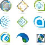 Logos, collection, services, service informatique Photos libres de droits