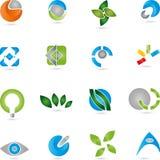 Logos, collection, services, service informatique Photographie stock libre de droits