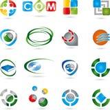 Logos, collection, services, service informatique Photo stock
