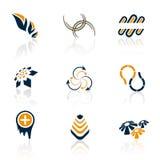 Logos colorés Images libres de droits