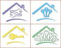 Logos of cottages. Royalty Free Stock Photo