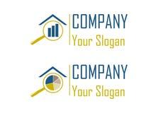 Logos d'analyse des marchés Photographie stock