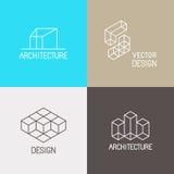 Logos d'architecture illustration libre de droits