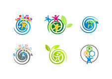 Logos d'autisme illustration stock