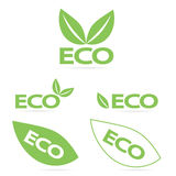 Logos d'Eco Photo libre de droits