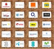 Logos d'opérateur mobile Photographie stock libre de droits