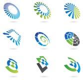 Logos dans le point de vue Image stock