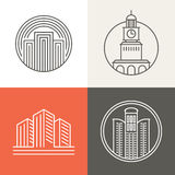 Logos de bâtiments et de maisons de vecteur Images stock