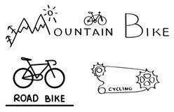 Logos de bicyclette Photos stock