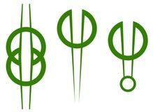Logos de cercle Photographie stock libre de droits