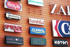 Logos de compagnie Photographie stock