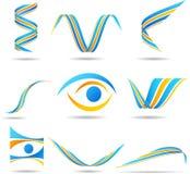 logos de compagnie réglés Photos libres de droits