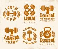 Logos de forme physique Photos stock