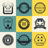 Logos de gymnase de forme physique et de sport Photographie stock