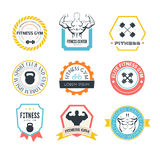 Logos de gymnase de forme physique et de sport Photo libre de droits