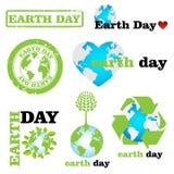 Logos de jour de terre Photo libre de droits