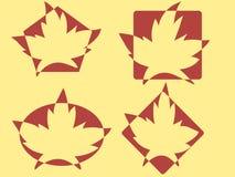 Logos de lames d'érable Images libres de droits