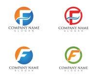 Logos de lettre de F et icônes de calibre de symboles Photos stock