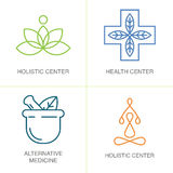 Logos de médecine parallèle Photographie stock
