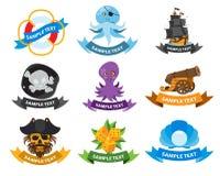 Logos de mer et de pirate Photo libre de droits