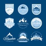 Logos de montagne Photos stock