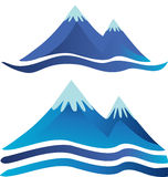 Logos de montagnes illustration libre de droits