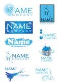 Logos de nettoyage Photo libre de droits