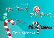 Logos de Noël Photos libres de droits