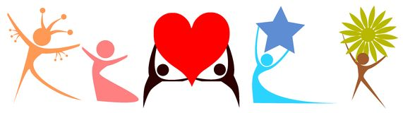 Logos de personnes Photos stock