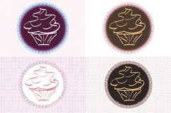 Logos de petit gâteau de vintage Image stock