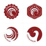 Logos de plage affligés par classique Image stock