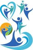 Logos de ramassage de couples Photographie stock libre de droits