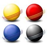 Logos de sphères de Saturne de fil illustration de vecteur