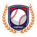 Logos de tournoi de base-ball Photo stock
