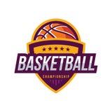 Logos de tournoi de basket-ball Photos stock