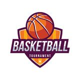 Logos de tournoi de basket-ball Photo libre de droits