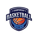 Logos de tournoi de basket-ball Image stock