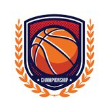 Logos de tournoi de basket-ball Photo libre de droits